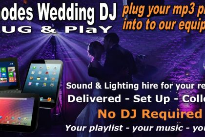 wedding or party disco P.A & lighting hire