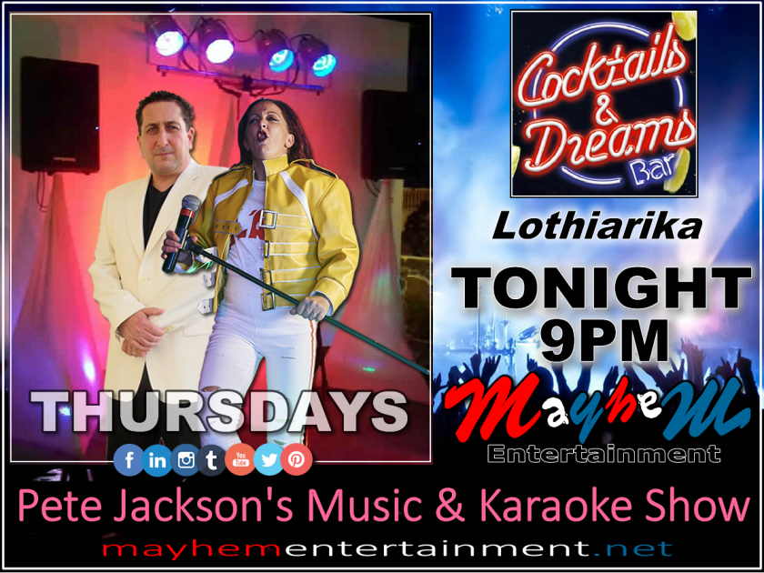 Pete Jackson's Music & Karaoke Show Mayhem Entertainment