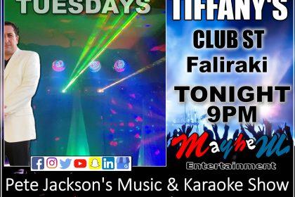 Pete Jackson's Music & Karaoke Show Rhodes Greece