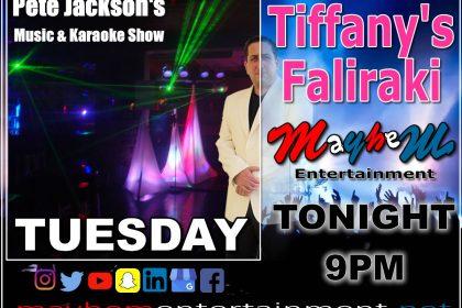 Tiffany's Bar Faliraki Pete Jackson's Music & Karaoke Show
