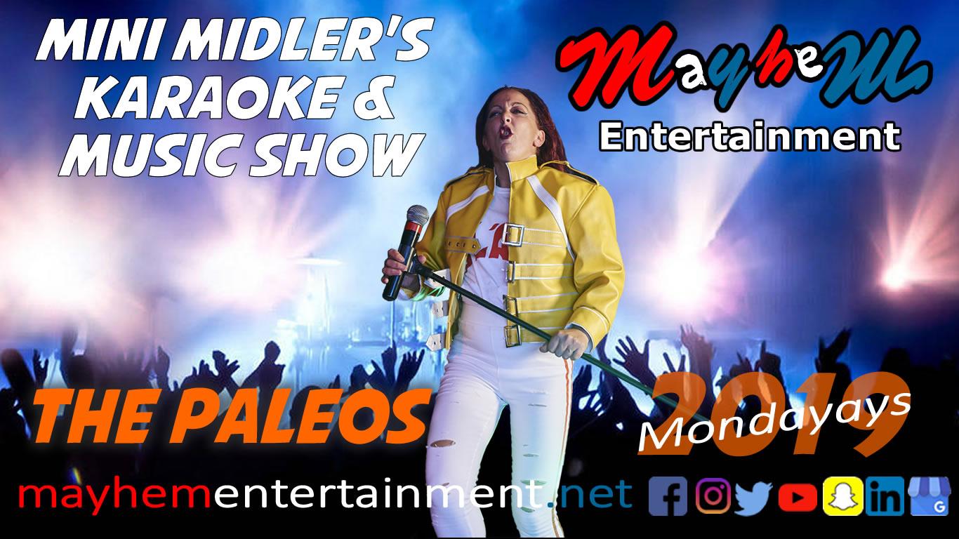 Mini Midler Minioke Mercury Karaoke Show music Paleos Trianda