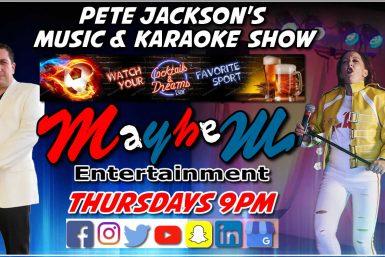 Pete Jackson's Music & Karaoke Show Cocktails & dreams Lothiarikaa