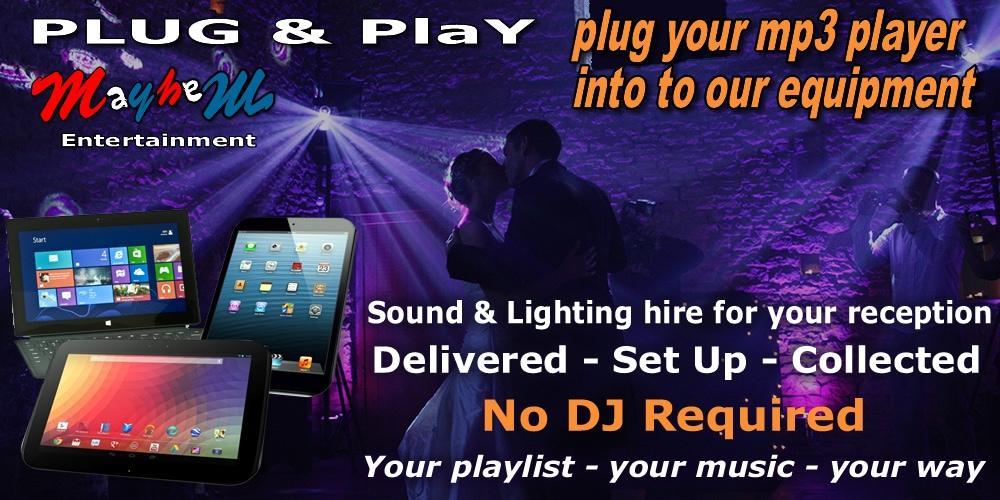 Wedding Disco Equipment Hire Rental