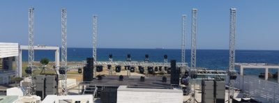 Large outdoor stage rigging hire