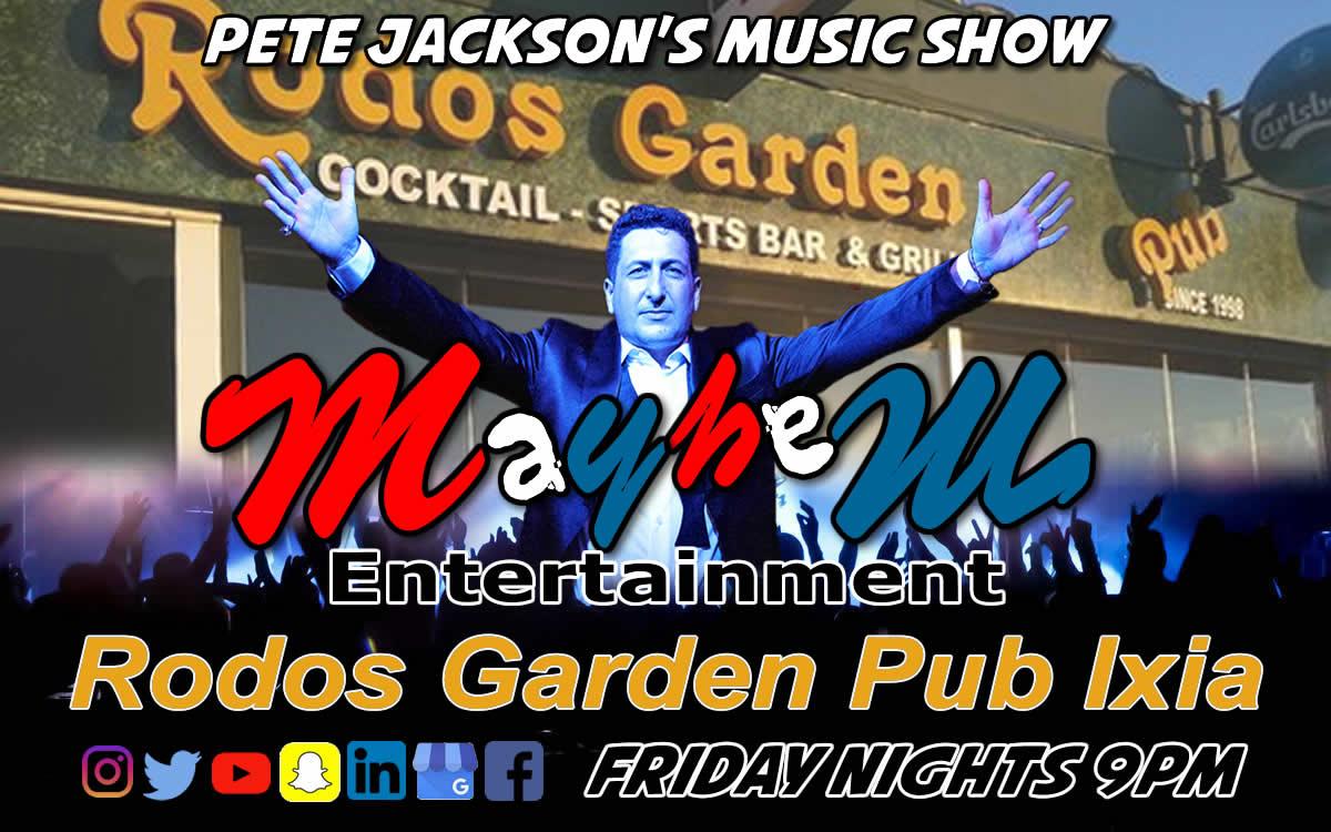 Pete Jackson's Music & Karaoke Show at Rodos Garden Pub Ixia