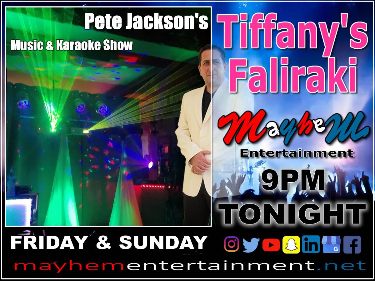 Pete Jackson's Music & Karaoke Show Tiffany's Faliraki Rhodes Greece