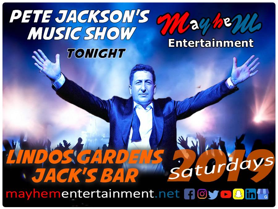 Lindos Gardens Saturday Nights with Pete Jackson's Music & Karaoke Show
