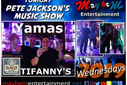 Tiffany's Bar Faliraki Mayhem Entertainment Wednesdays Pete Jackson's Music & Karaoke Show
