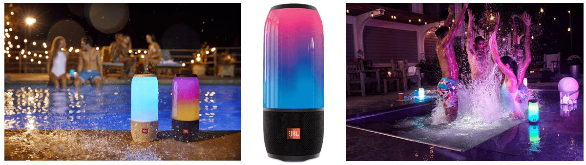 JBL Bluetooth Pulse 5 speakers for wireless audio and lighting