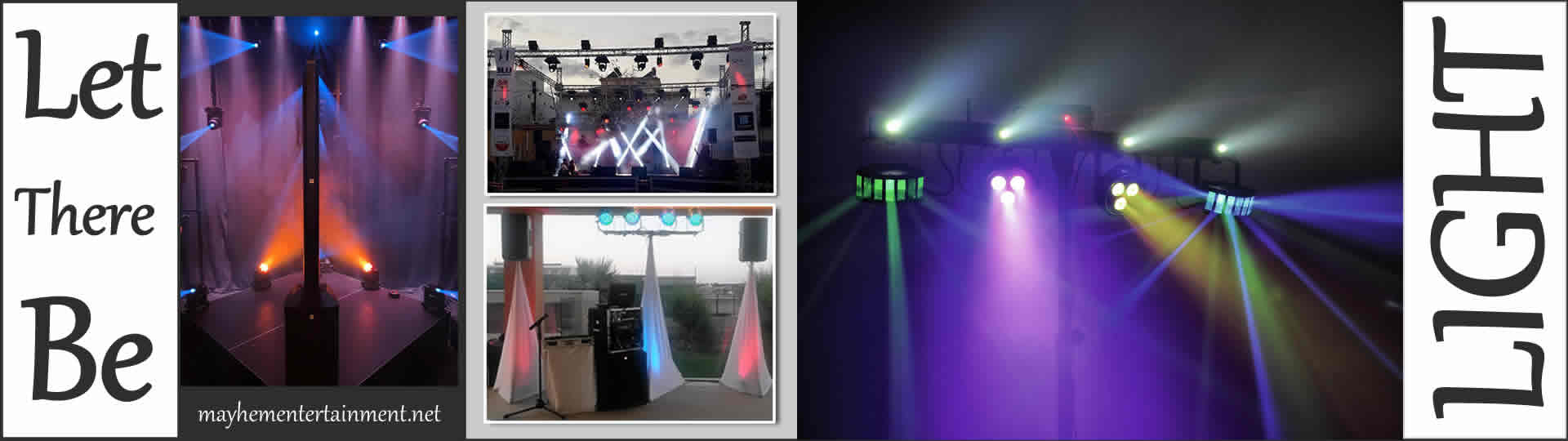 Latest Hi-Tech Lighting Systems Mayhem Entertainment Sound & Lighting + Large Events Hire Mobile Pages