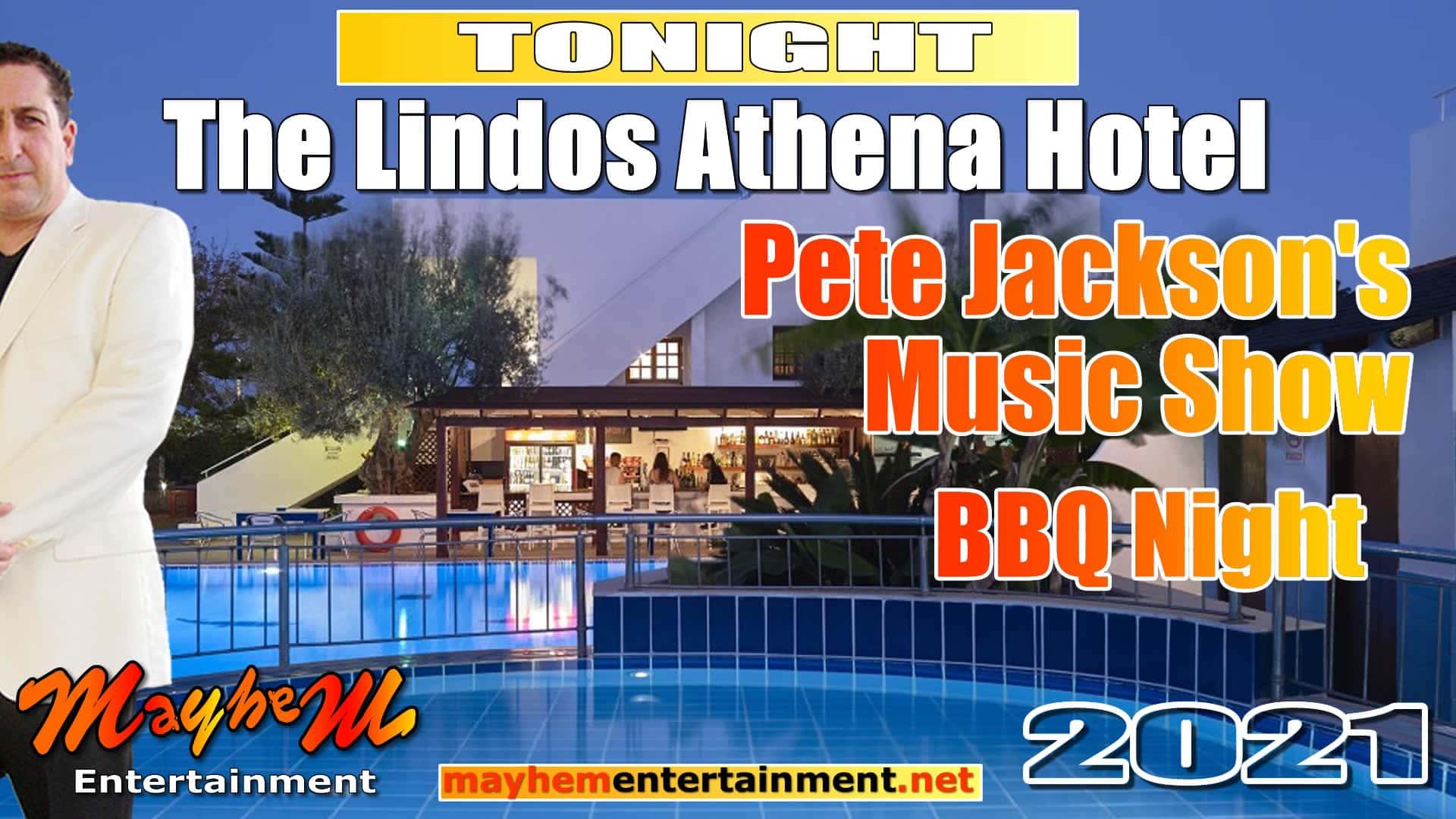 BBQ and music with Pete Jackson The Lindos Athena Hotel Sundays