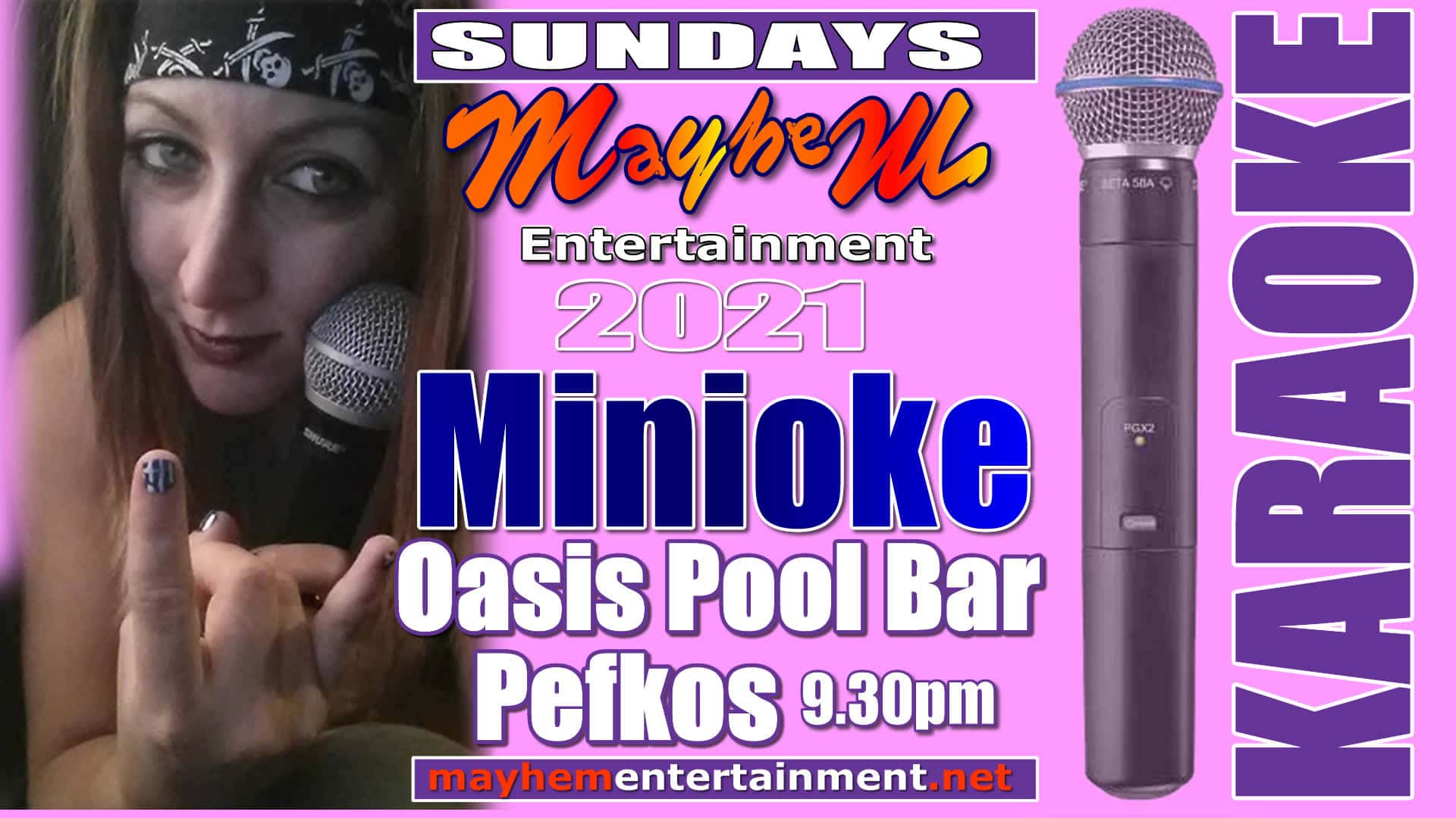 Sunday nights at Pefkos in The Oassis Pool and bar